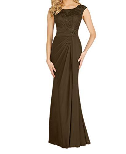 Promkleider Etui Partykleider Schnitt Abendkleider Lang Schmaler Blau La Elegant Braun Navy Braut mia Abschlussballkleider nBwqCvFY