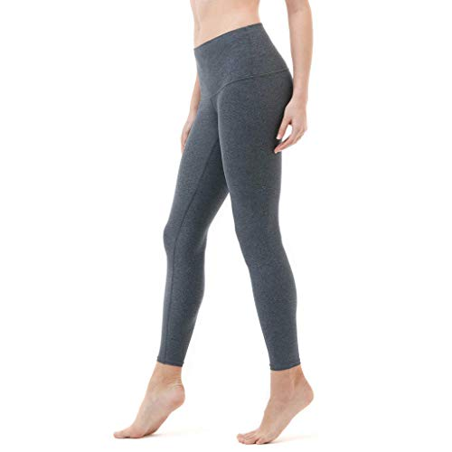 High Waist Yoga Pants Ladies Solid Color Sports Leggings Solid Color Tight Stretch Jogging Workout Pencil Pants MEEYA Gray
