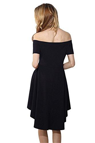 Hombro Mujeres CXSM Negro clothes un Los XXL Vestidos de wIqZYIU