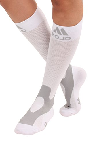 Easy Stocking - Mojo Compression Socks 20-30 Made with Coolmax and Soft Easy to get on Materials. Medical Graduated Support Socks for Men and Woman Compression Stockings with Cushioned Foot and Heel