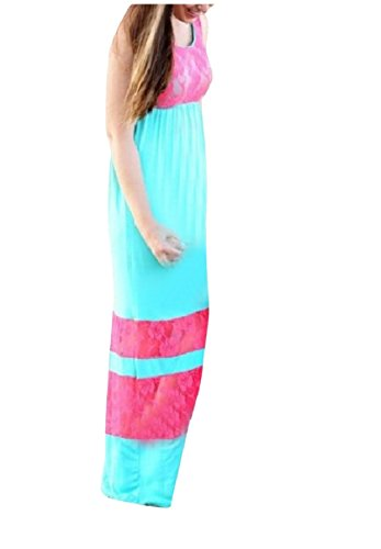 Women Coolred Clothes Lace Dresses Blue Matching Long Tunic 3XS Maxi Family dwPrgqw