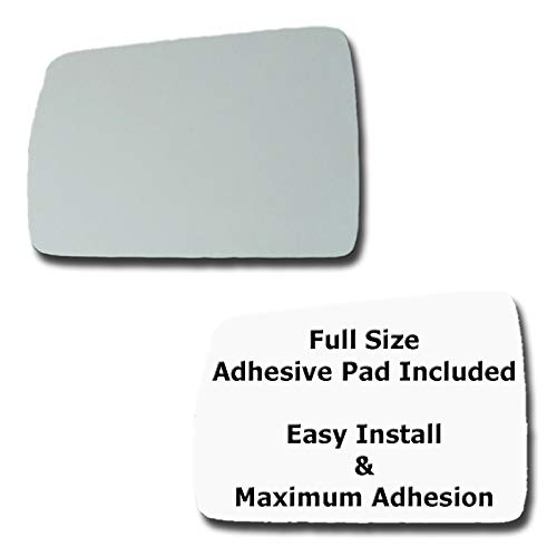 - Mirror Glass + Full Size Adhesive Pad for 1984-1996 Jeep Cherokee Driver Side Replacement