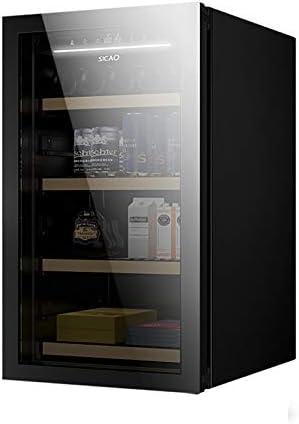 CLING Refrigerador para vinos Refrigerador de Doble Zona para empotrar o Independiente con Puerta de Vidrio Reversible Templado de Acero Inoxidable y función de Memoria de Temperatura