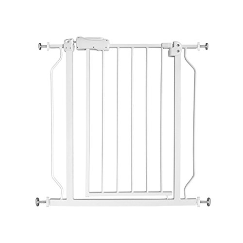 Fairy Baby Safety Metal Walk-Thru Gate,Fits Spaces between 66.9' and 71.65' Wide,White