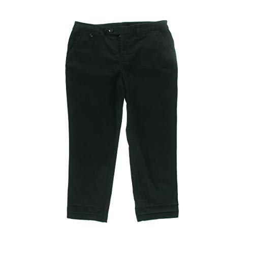 I-N-C Womens Faux Leather Trim Casual Trouser Pants