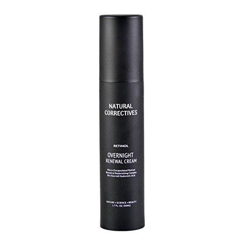 Retinol Overnight Renewal Cream with Micro-Encapsulated Retinol & Hyaluronic Acid Retinol Dermatologist night cream for anti aging skincare regimen and fine lines and wrinkle under eye skin repair
