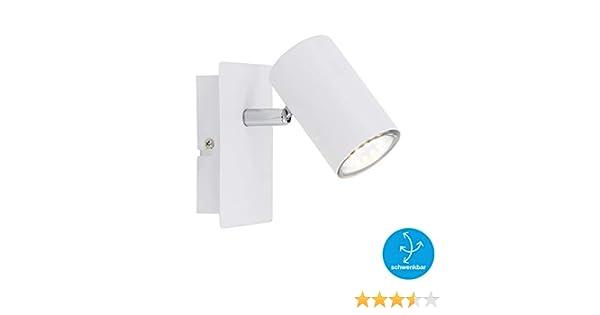 Color Blanco 40 vatios GU10 W Foco de 1 luz m/áx Briloner Leuchten Pared