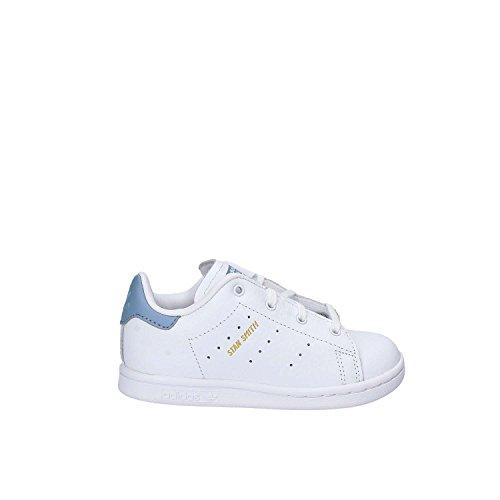 adidas Unisex Baby Stan Smith Sneaker, Bianco/Blu bianco (Ftwbla / Ftwbla / Azutac)