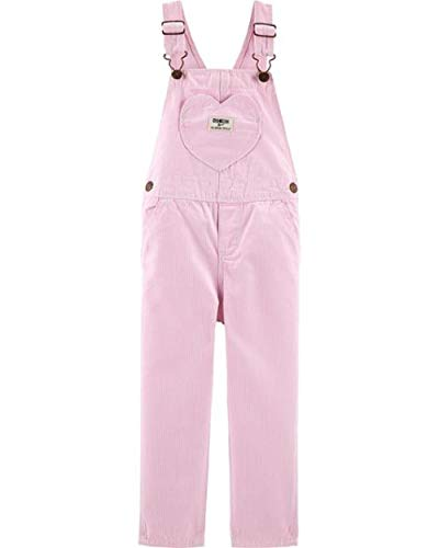 OshKosh B'Gosh Baby Girl Hickory Striped Overalls Size 3M Pink ()