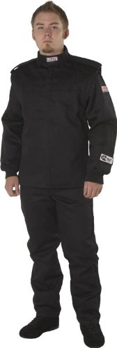 G-Force 4526XLGBK GF 525 Black X-Large Multi-Layer Racing Jacket