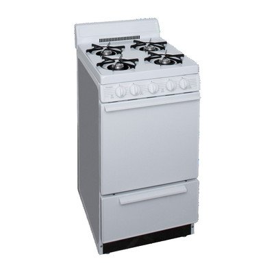 Gas Range Roll Out Drop - 2.42 Cu. Ft. Gas Range Finish: White