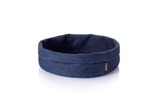 BambuAdjust-A-Bowl Hemp Denim Bowl, Blue