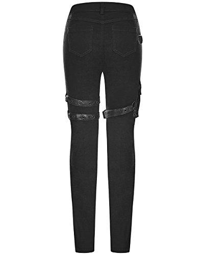 Punk Rave - Jeans - Femme Noir Noir