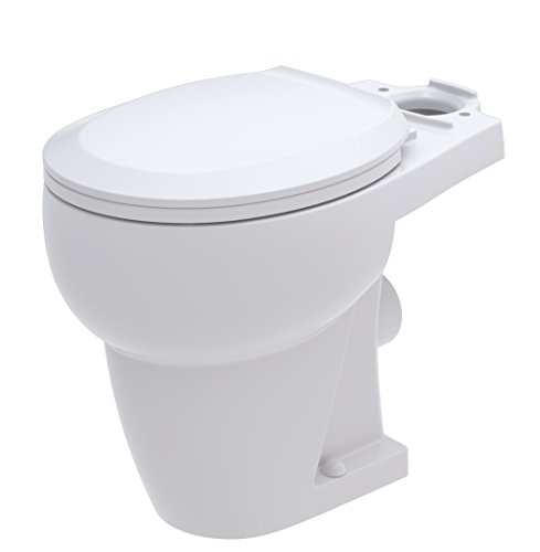 Bathroom Anywhere Macerating Round Toilet Bowl, White