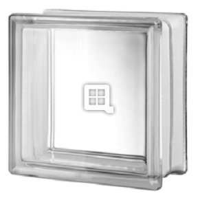 Quality Glass Block 8 x 8 x 4 Clarity 90 Minute Glass Block by Quality Glass Block