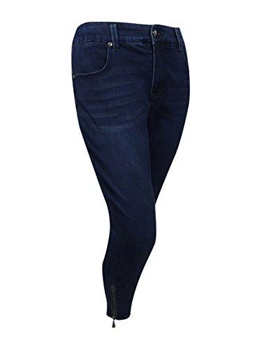 Melissa Zip (Melissa McCarthy Seven7 Women's Plus Size Zip Pencil Jeans (22W, Ziggy Blue))