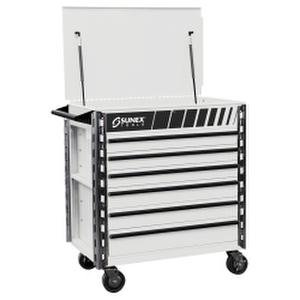 Sunex Tools (SUN8057XTWH) Premium Full 6 Drawer Service Cart - White