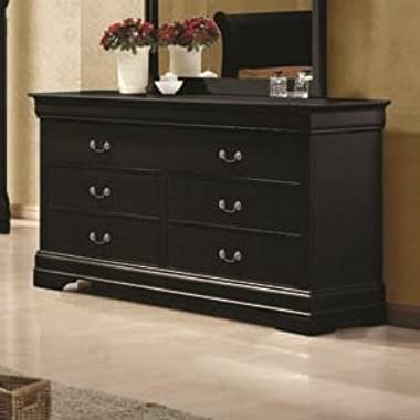 Coaster 203963 Louis Philippe Traditional Dresser in Black