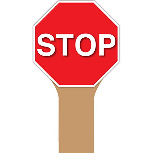 (Top Notch Teacher Products TOP5365 Handy Sign, Stop Sign, Plastic)