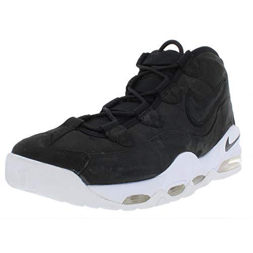Nike Mens Air Max Uptempo Mid Top Basketball Shoes Black 10.5 Medium (D)