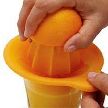 Citrus Juicer with Non Skid Silicone Base, Orange