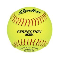xum Leather Softballs - 1 Dozen (Poly Core Leather Fastpitch Softball)