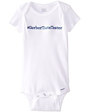 Unisex Baby Short-Sleeve Taste Tester Onesie