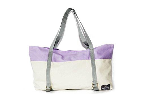 Peak To Prairie Soft Canvas Yoga Mat Gym Tote Bag