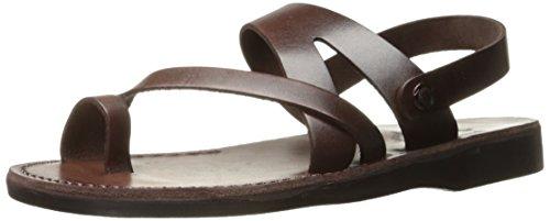 Jerusalem Sandals Men's Benjamin Toe Ring, Brown, 47 EU/14 M US 501