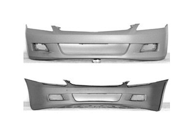 PAINTED FRONT BUMPER COVER HONDA ACCORD 2006-2007 SEDAN - Taffeta White - (Taffeta White Honda Accord)