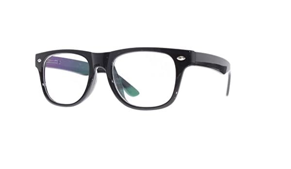 fc6ac4bfe5a4f Amazon.com  EyeBuyExpress Kids Childrens Reading Glasses Black Glossy Retro  Style Full Rim  Health   Personal Care