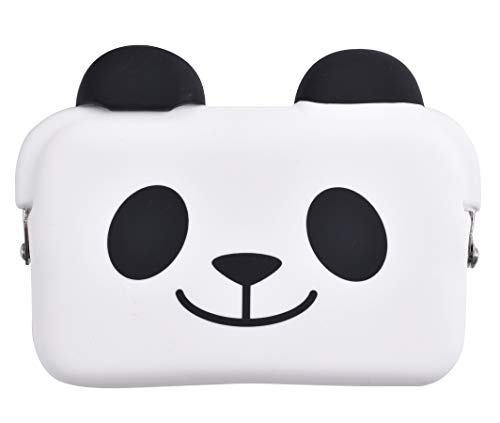 P+G Design Domo Silicone Purse - Panda Smile, Cute Pouch for Business Card, Wallet - Authentic Japanese Design - Durable Quality (Business Card Japanese)