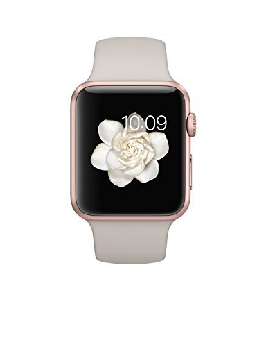 Apple Watch Sport 42mm Rose Gold Aluminum Case with Stone Sport Band (Certified Refurbished)