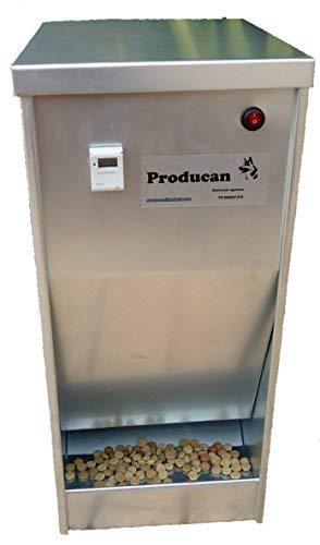 Comedero automático profesional programable de 15 kilos de capacidad. Válido para exterior.