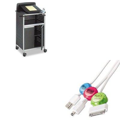 Scoot Multi Purpose Lectern - KITPRBDCI101COCBSAF8922BL - Value Kit - Safco Scoot Multipurpose Lectern (SAF8922BL) and Paris Business Products Dotz Cord Identifier (PRBDCI101COCB)