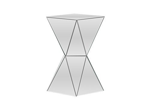 Baxton Studio Rebecca Contemporary Multi-Faceted Mirrored Side Table Contemporary Glass Side Table