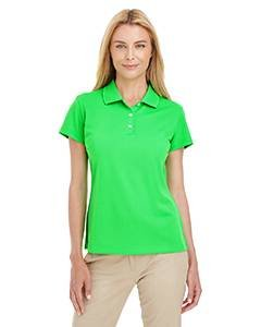 adidas A131 Women's Climalite Basic Pique Solid Polo Golf Shirt Solar Lime Whte Medium by adidas
