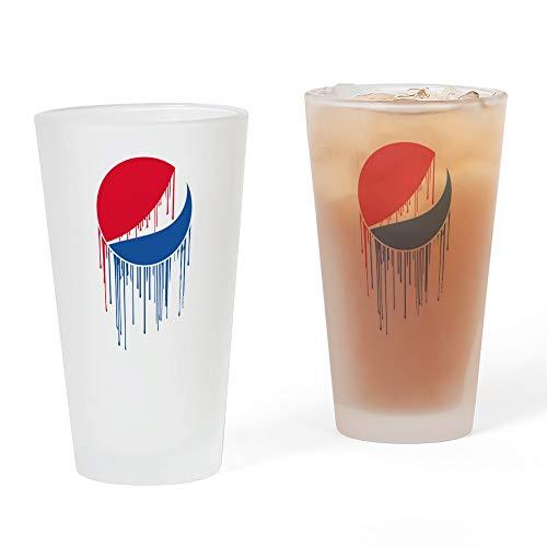 (CafePress Pepsi Varsity Drip Pint Glass, 16 oz. Drinking Glass)
