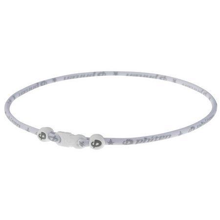 Phiten Star Sport 18 White Titanium (White Phiten Titanium Necklace)