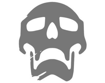 """DESTINY VIDEO GAME SKULL LOGO STICKERS SYMBOL 5.5"""" DECORATIVE DIE CUT DECAL FOR CARS TABLETS LAPTOPS SKATEBOARD - WHITE"""