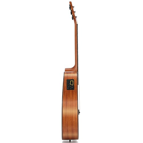 Donner DAG-1CE Electric Acoustic Guitar Cutaway 41'' Full-size Guitar Bundle Built-in Preamp with Bag Strap Tuner String - Image 3