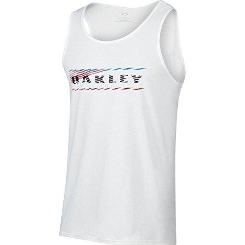 Oakley Men's 50/50 Blurred Lines T-Shirt, White, - Top Oakley