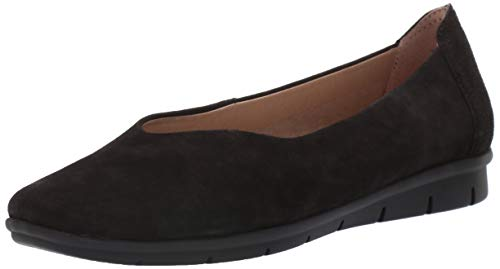 SOUL Naturalizer Women's LEYLA Shoe, BLACK SUEDE, 9.5 M - Naturalizer Loafers Suede