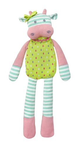 Organic Farm Buddies Plush Toy - Belle Cow, 14 inches