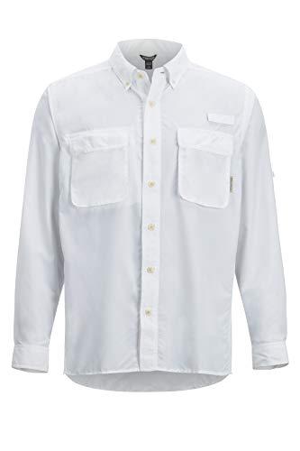ExOfficio Men's Air Strip Long Sleeve, White, -