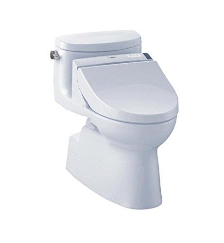 TOTO MW6442044CEFG#01 Carolina II Connect Plus Toilet, 1.28 GPF With Washlet C200, (Carolina One Piece Elongated Toilet)