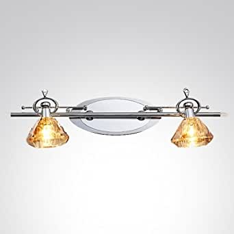 hua Polished Chrome Finish and Graceful Crystal Shade Beguiling Combination in Dazzling Wall Sconce