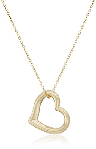 Yellow Gold Plated Sterling Pendant Necklace