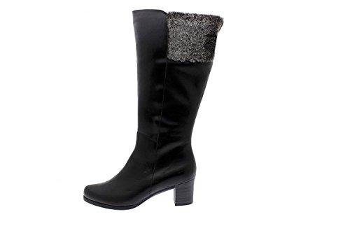Chaussures Botte noir En Xl Confort Femme Negro Cuir Piesanto 175874 Large Mollet wcx8q5EPSS