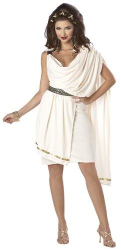 California Costumes Women's Deluxe Classic Toga Tunic, Cream, Large -